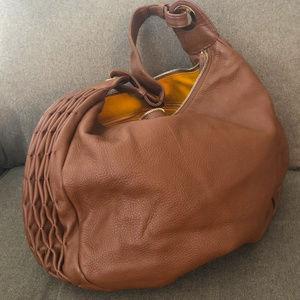 GOLDENBLEU Sopie Large Leather Hobo Shoulder Bag